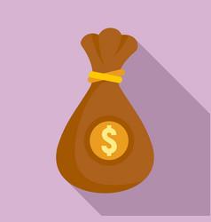 money bag icon flat style vector image