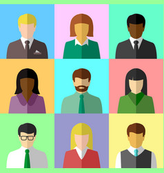 Multicultural group people vector