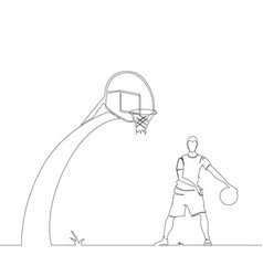 one basketball player vector image