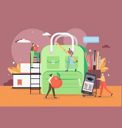 online school flat style design vector image