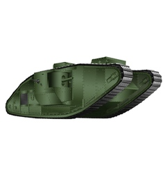 painting british tank 1st World War vector image