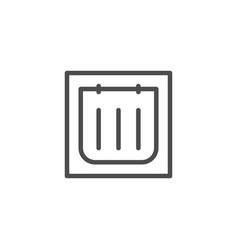 pet door line icon vector image