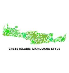 Royalty free marijuana leaves collage crete island vector
