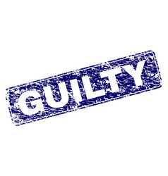 Scratched guilty framed rounded rectangle stamp vector