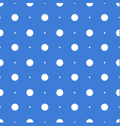 seamless dots pattern seamless on blue background vector image