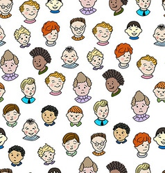 Seamless pattern with boys vector image