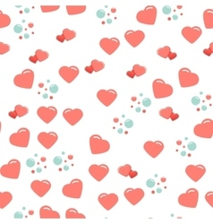 Seamless pattern with cute and chic hearts on vector