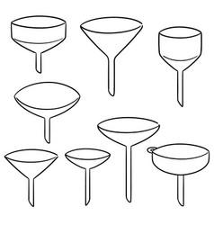 Set of funnels vector