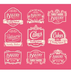 Set of label design elements vector image
