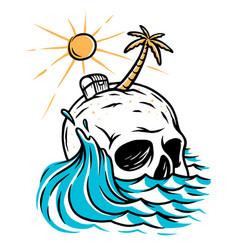 skull island vector image
