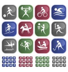 Sport buttons vector