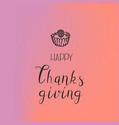Thanksgiving cake concept background simple style vector