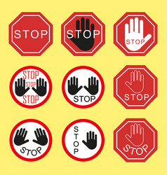 traffic signs traffic stop danger warning vector image