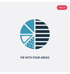 two color pie with four areas icon from user vector image