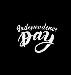 united stated independence day lettering fourth vector image