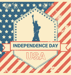 United states flag independence day holiday 4 july vector