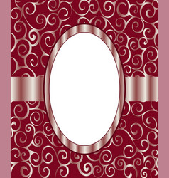Vintage frame background invitation ornament vector