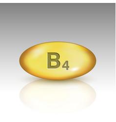 Vitamin b4 vitamin drop pill vector