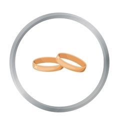 Wedding rings icon in cartoon style isolated on vector