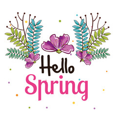 Welcome spring design vector