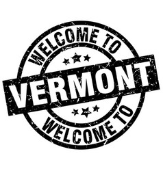 welcome to vermont black stamp vector image