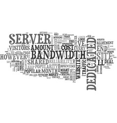 when to consider a dedicated server text word vector image