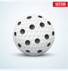 white floorball ball vector image