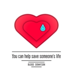 Donate blood poster design royalty free vector image blood donation poster vector image thecheapjerseys Image collections