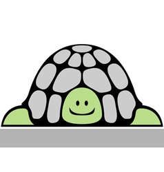 cheerful turtle vector image vector image
