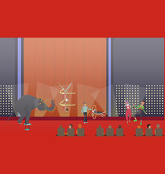 circus show in flat style vector image vector image