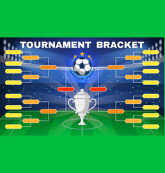 football tournament banner vector image