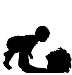 mother with a baby vector image