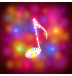Note symbol from colorful bokeh background vector image vector image