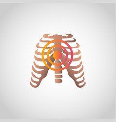 pain in chest icon design infographic health vector image
