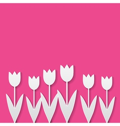 paper tulips vector image vector image