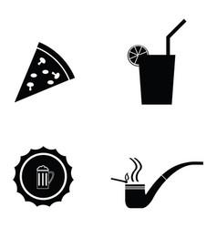 pub icon set vector image vector image