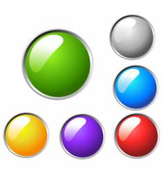 colorful bulbs vector image