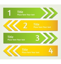 Set of infographic arrows vector image vector image