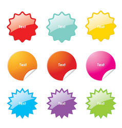 sticker rounded corner banner sale vector image