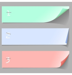 Three paper banners vector image vector image