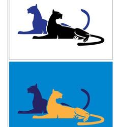 big cats vector image