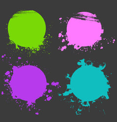 color stickers set vector image vector image
