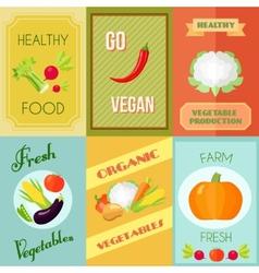 Healthy Food Mini Poster Set vector image