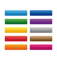 Rectangular buttons vector image vector image