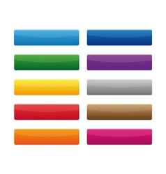 Rectangular buttons vector image