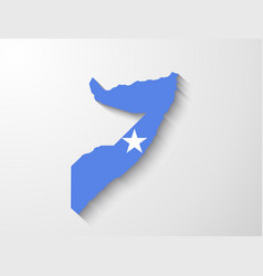 Somalia map with shadow effect presentation vector