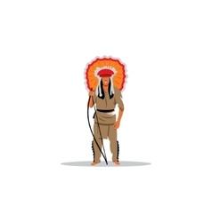 Aztec redskin warrior sign vector image vector image