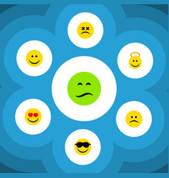Flat icon emoji set of joy angel love and other vector