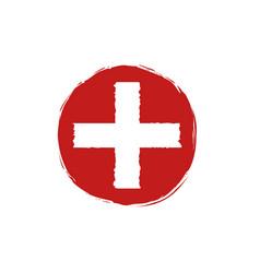 medical cross logo vector image