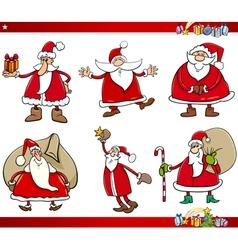 santa on christmas time set vector image